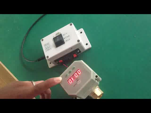 99 hours timer control motorized valve