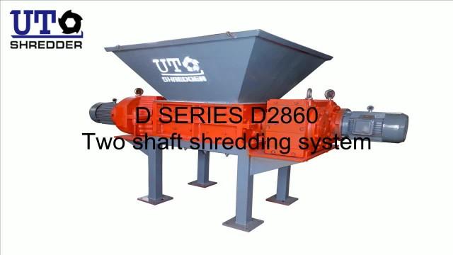 two rotor shredder shredding solid waste thumbnail image