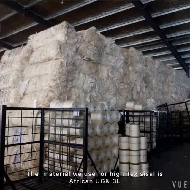 Unclipped Sisal Yarn For Making Elevator Core